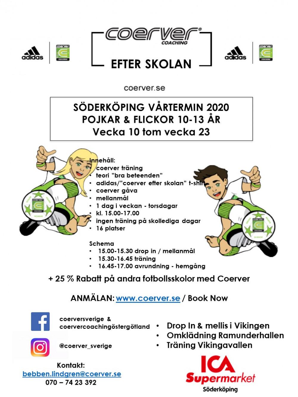 Coerver Efter Skolan Söderköping Vår 2020