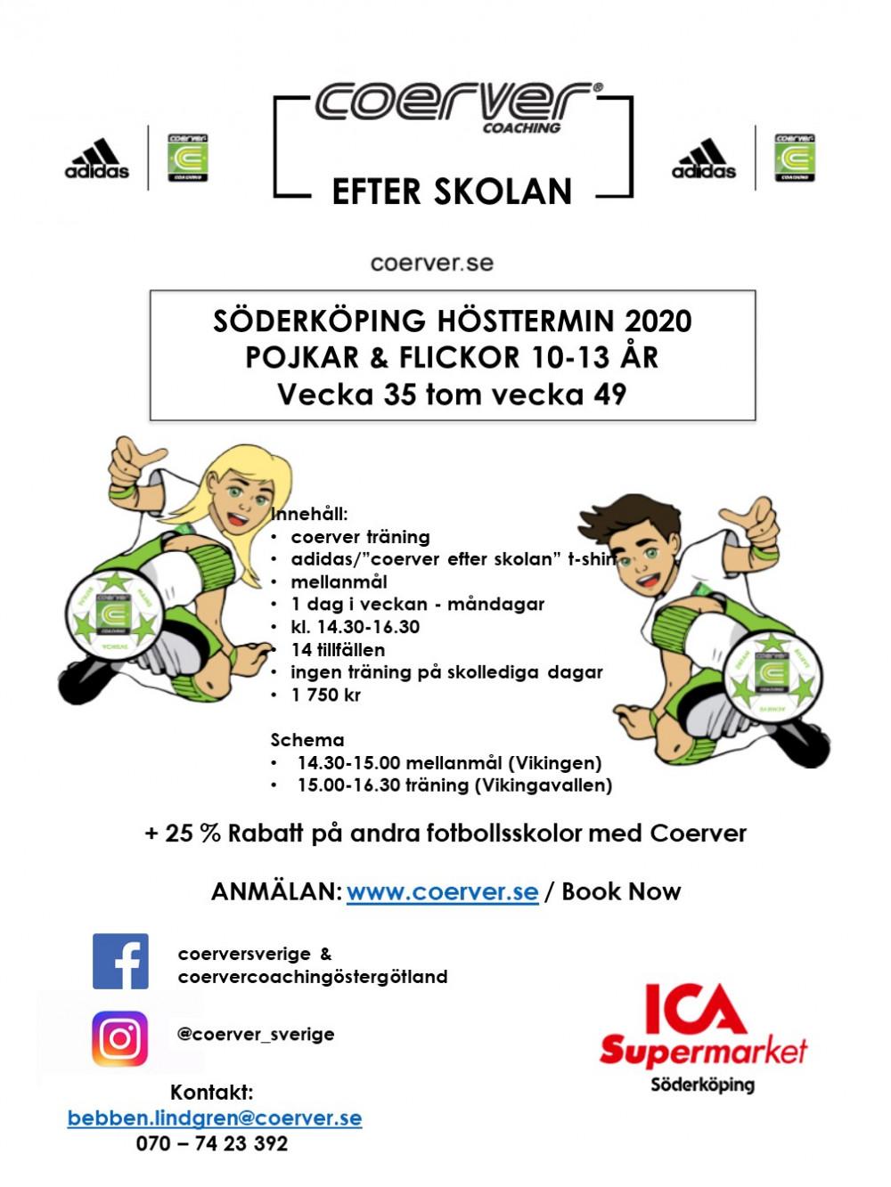 Coerver Efter Skolan Söderköping Höst 2020