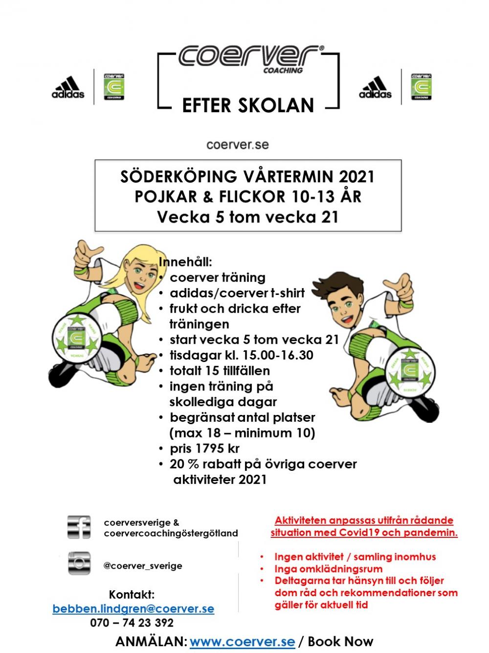 Coerver Efter Skolan Söderköping Vår 2021