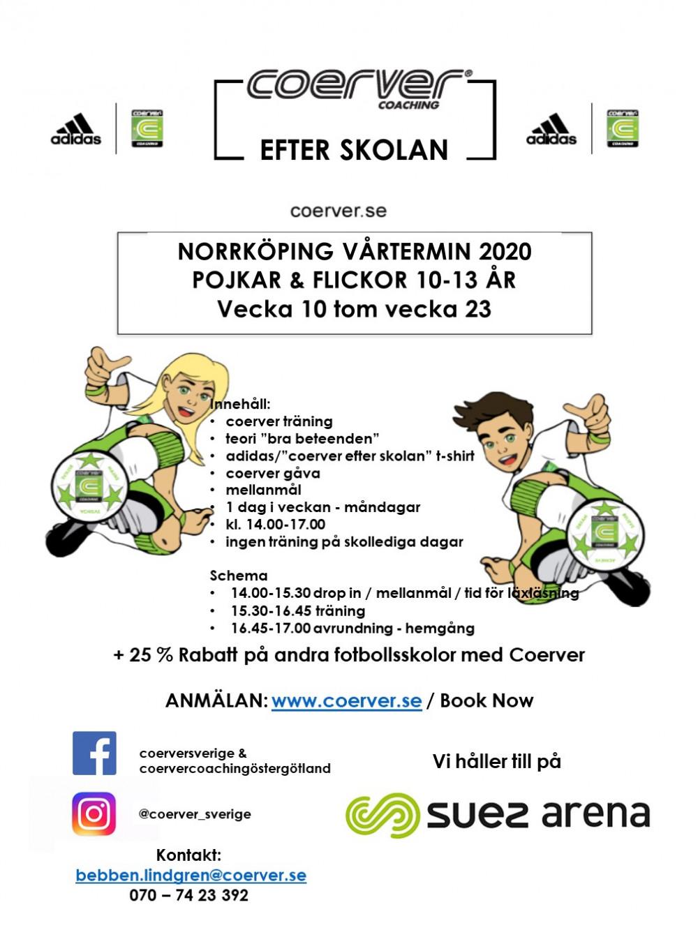 Coerver Efter Skolan Norrköping Vår 2020