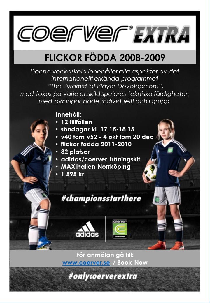 Coerver Extra Norrköping 2020 Flickor födda 2008-2009