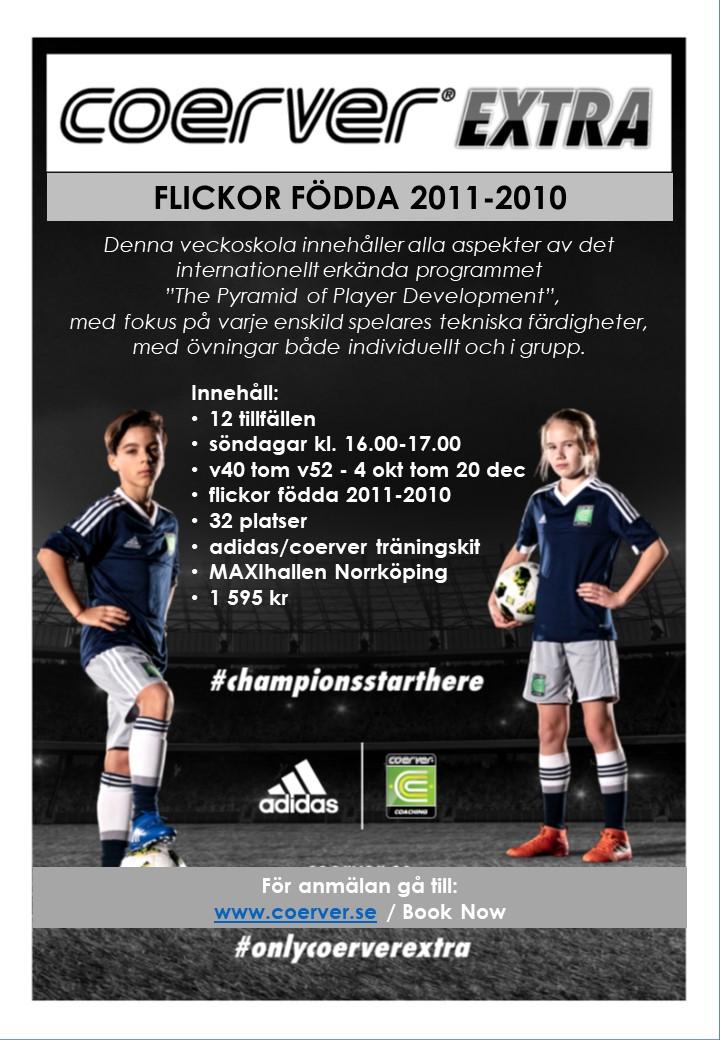 Coerver Extra Norrköping 2020 Flickor födda 2011-2010