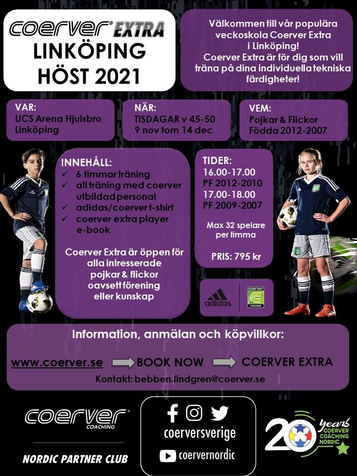 Coerver Extra Linköping Höst 2021 Födda 2012-2010