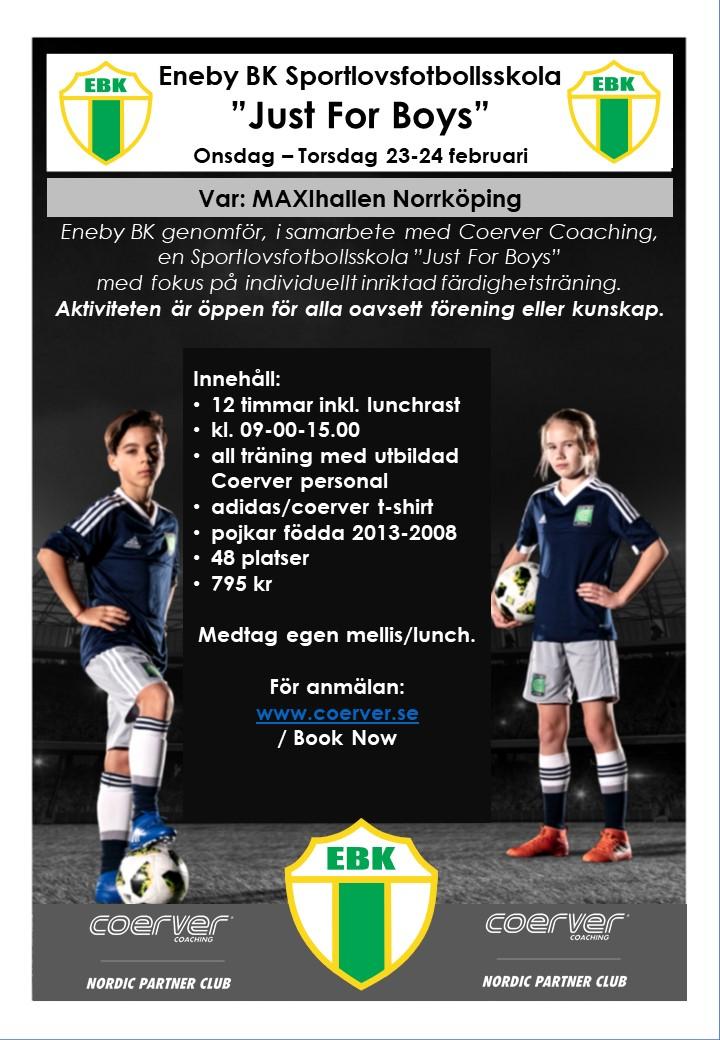 Eneby BK Sportlovsfotbollsskola Just For Boys 2022