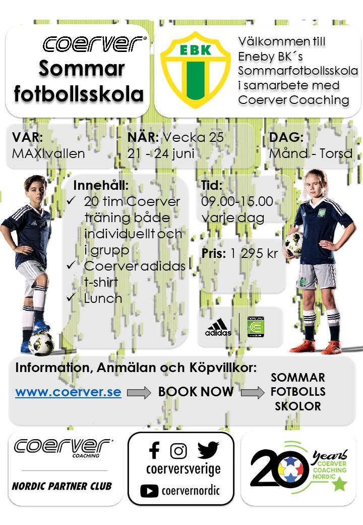 Eneby BK´s Sommarfotbollsskola 2021
