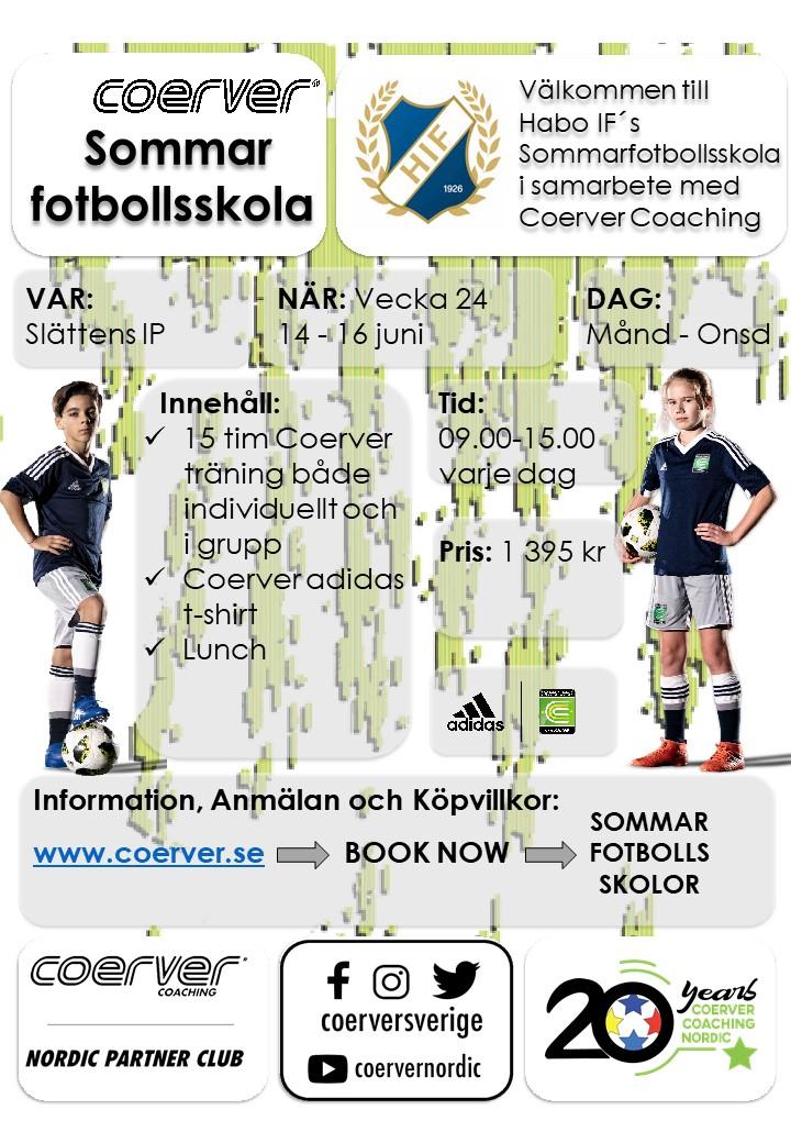 Habo IF´s Sommarfotbollsskola 2021