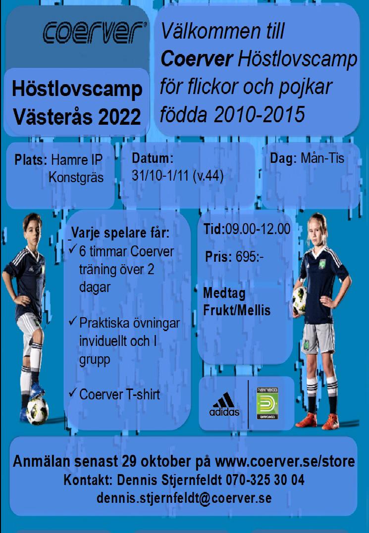 Höstlovscamp Västerås 2021