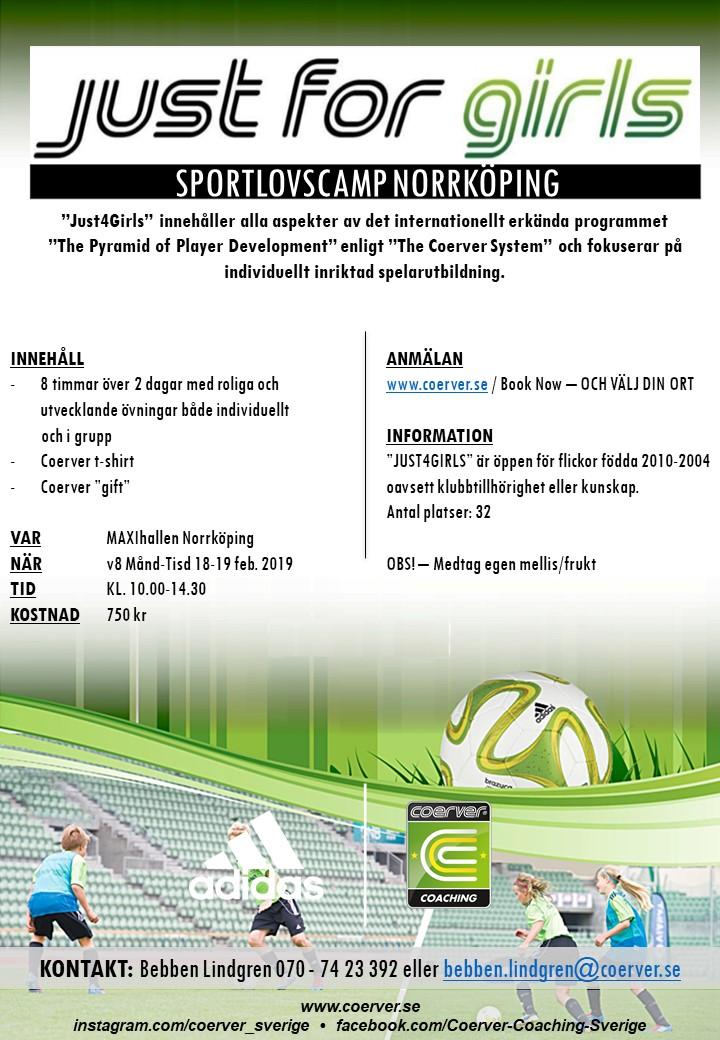Just 4 Girls Sportlov Norrköping