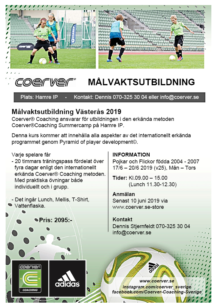 Målvaktscamp Västerås Vecka 25