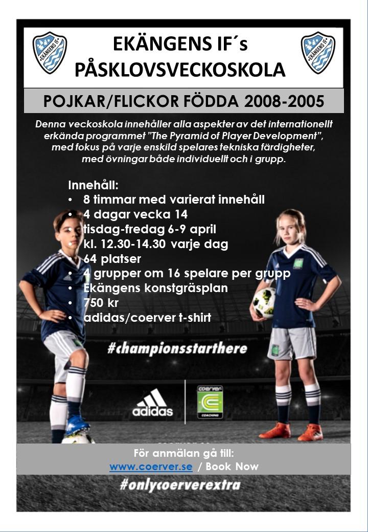 Ekängens IF´s Påsklovsveckoskola PF2008-2005