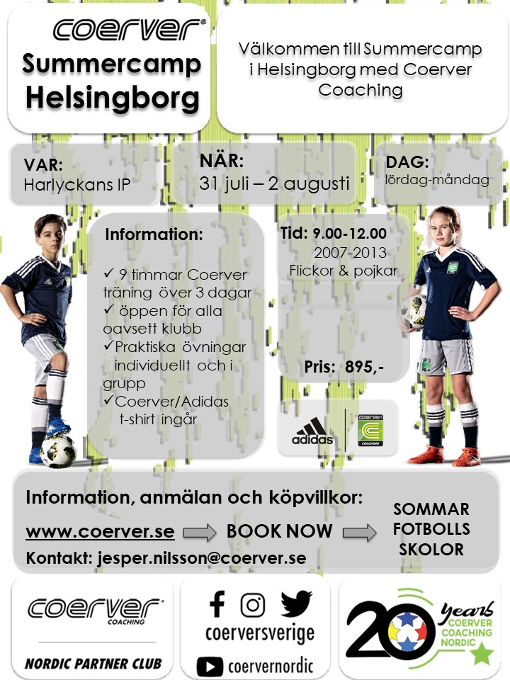 Summercamp Helsingborg 2021
