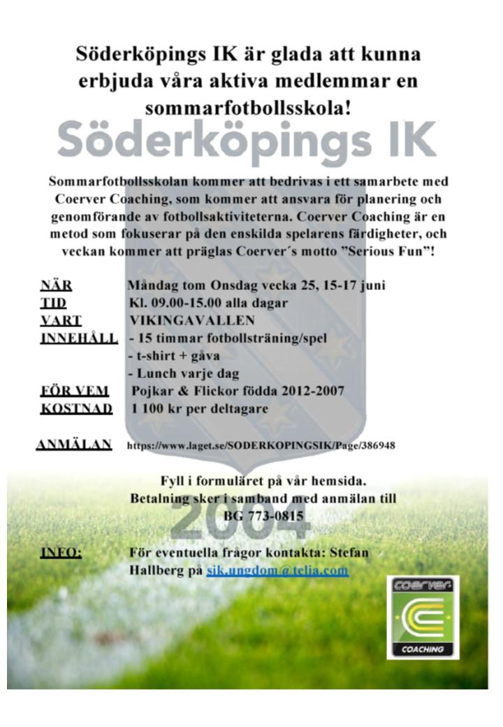 Söderköpings IK´s Sommarfotbollsskola 2020 v25