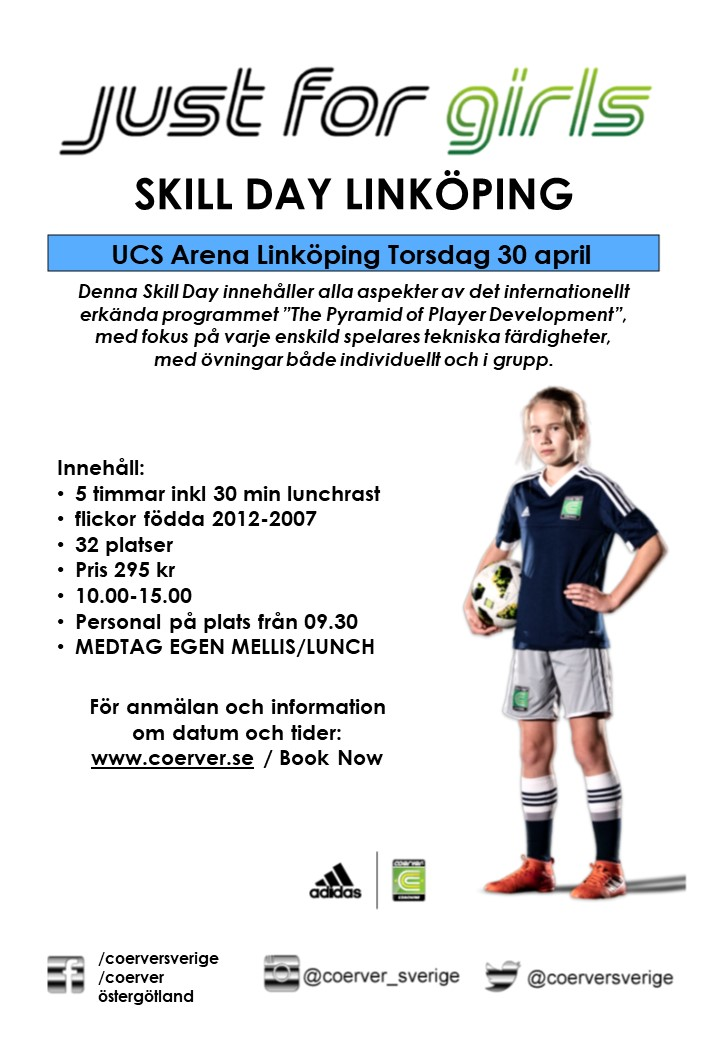 Skill Day Just For Girls Linköping 30 april