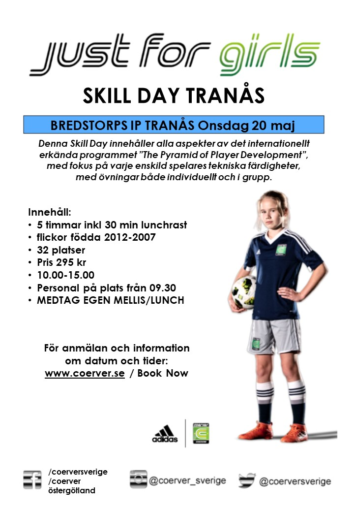Skill Day Just For Girls Tranås 20 maj