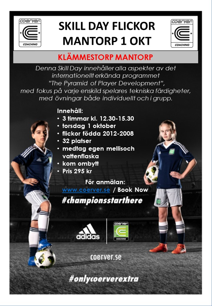 Skill Day Just For Girls Mantorp 1 oktober