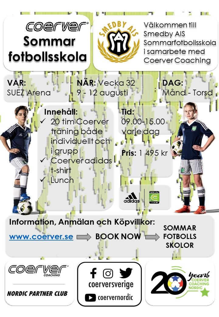 Smedby AIS´s Sommarfotbollsskola 2021