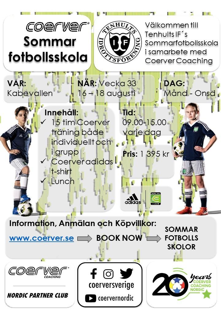 Tenhults IF´s Sommarfotbollsskola 2021