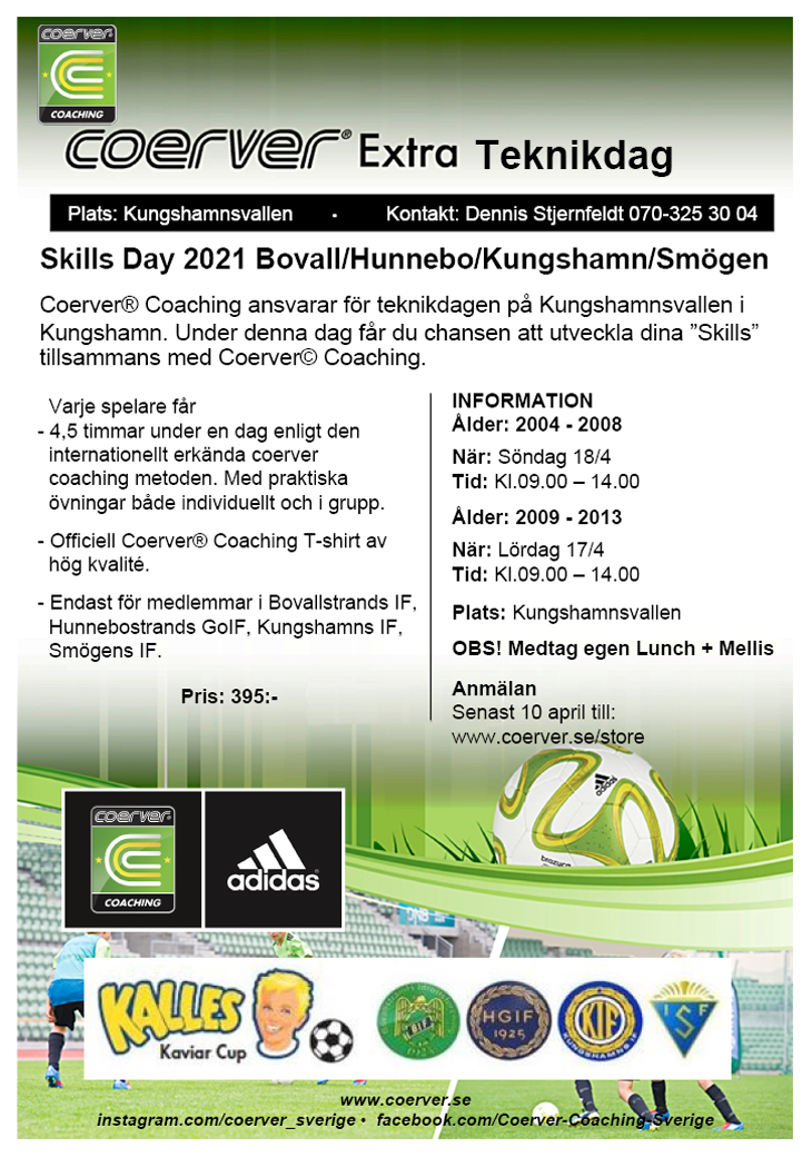 Coerver Skillsday Kungshamn Lördag 2013-2009