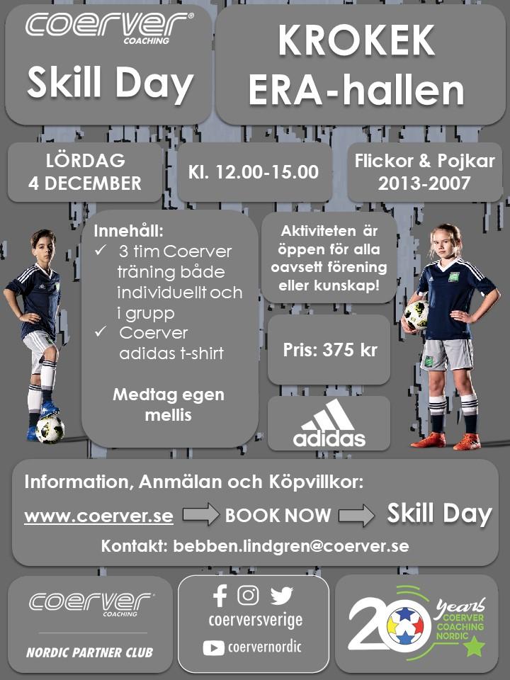 Coerver Skill Day Krokek 4 december