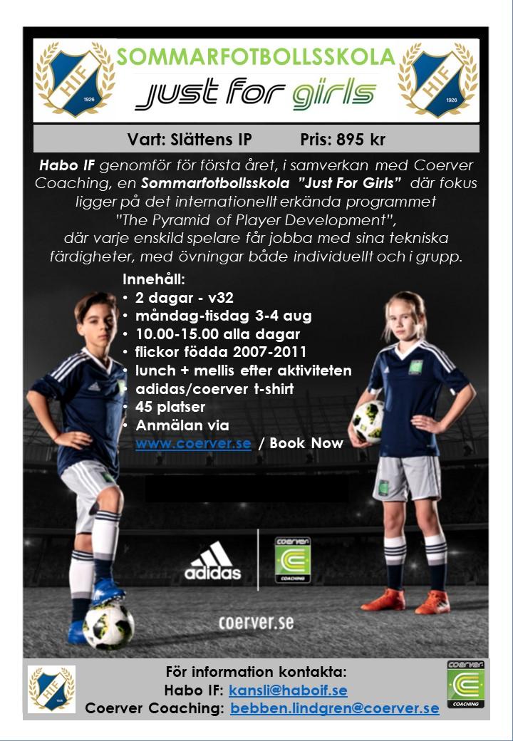 Habo IF Sommarfotbollsskola Just For Girls