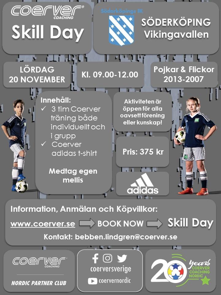 Coerver Skill Day Söderköping 20 november