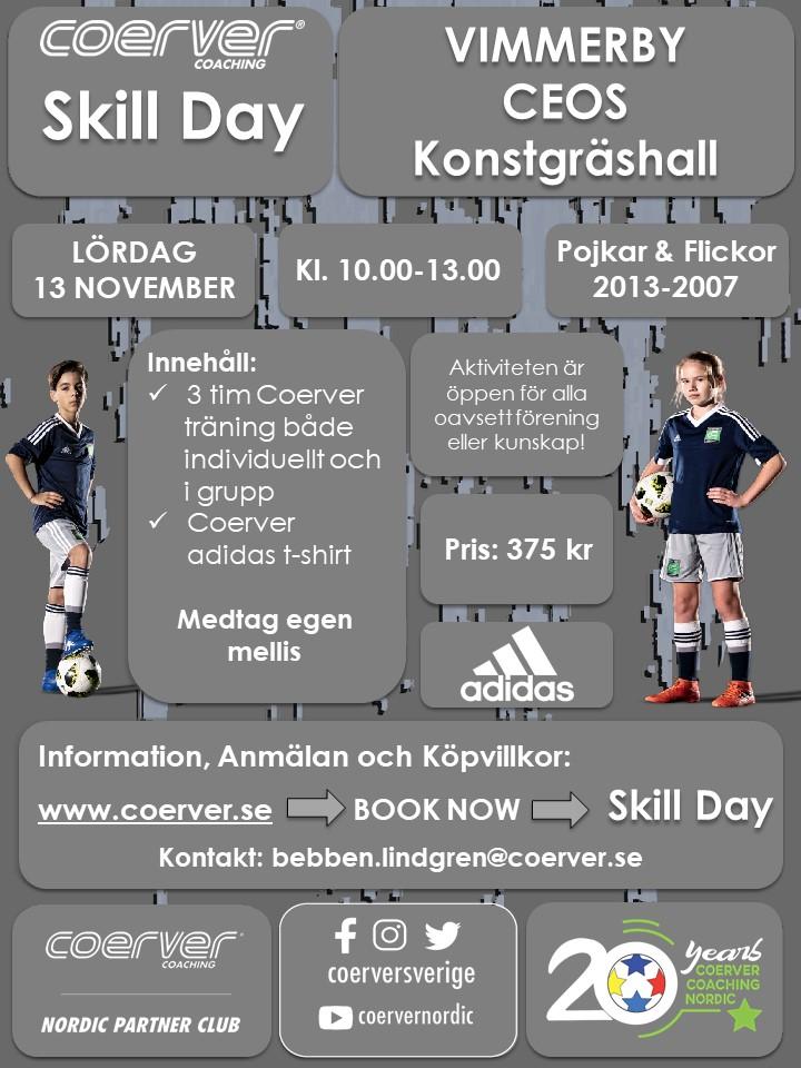 Coerver Skill Day Vimmerby 13 november